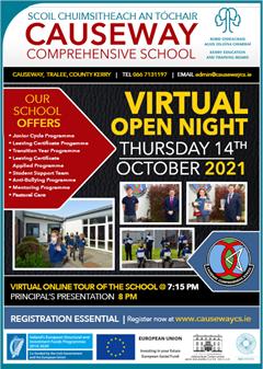 Virtual Open Night October 14th 2021